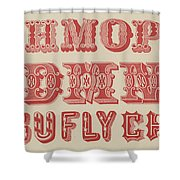 Examples Of Letters  Shower Curtain