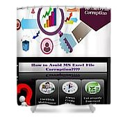 Excel Troubleshooting To Fix Corrupt/damaged Excel File Shower Curtain