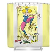 Exercise Wisely Shower Curtain