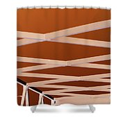 Exes- Red Shower Curtain