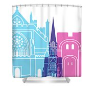 Exeter Skyline Pop Shower Curtain