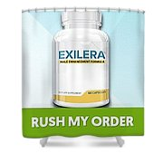 Exilera Male Enhancement Shower Curtain