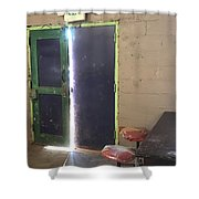 Exit Out Shower Curtain