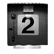 Exit Two Shower Curtain