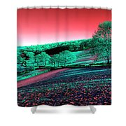Exmoor In The Pink Shower Curtain