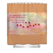 Exodus 20 5 Scripture Art Shower Curtain