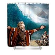 Exodus Moses And Pharaoh  Of Egypt Shower Curtain