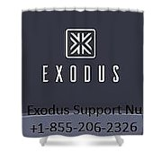 Exodus Support Number  Shower Curtain