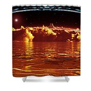 Exogatus  Shower Curtain