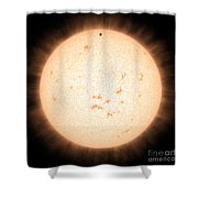Exoplanet Hd 219134b In Front Of Star Shower Curtain