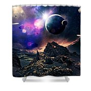 Exoplanets  Shower Curtain