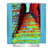 Exorcist Steps Shower Curtain
