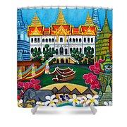 Exotic Bangkok Shower Curtain by Lisa  Lorenz