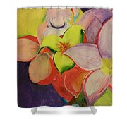 Exotic Flowers From The Islands Shower Curtain