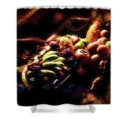 Exotic Fruit Platter Shower Curtain