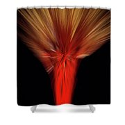 Exotic Wheat In Red Shower Curtain
