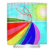 Expansive Flowing Colors In Nature Shower Curtain