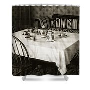 Expecting Guests Shower Curtain