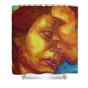Expected Kisses Shower Curtain