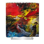 Expelled From The Land Shower Curtain