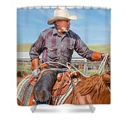 Experienced Cowboy Shower Curtain