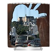 Experiencing Welly Through Art Shower Curtain