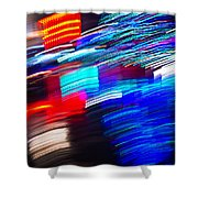 Exploded Lights Shower Curtain