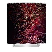 Exploding Festive Fireworks Shower Curtain