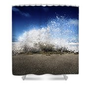 Exploding Seas Shower Curtain