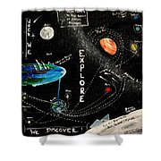 Explore And Discover Collector Edition Shower Curtain
