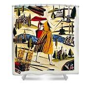 Explore London With A London Transport Explorer Pass - London Underground - Retro Travel Poster Shower Curtain