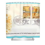 explorers First day cover Shower Curtain