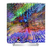 Explosion Shower Curtain