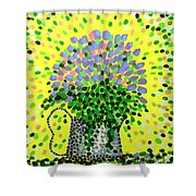 Explosive Flowers Shower Curtain