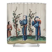 Export Gouaches On Pith Paper Shower Curtain