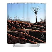 Exposed And Eroded Badlands Shower Curtain