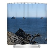Exposed Offshore Rocks Shower Curtain