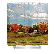 Expressionalism Autumn Farm Shower Curtain