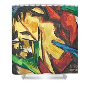 Expressionism Shower Curtain