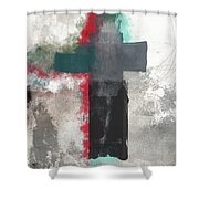 Expressionist Cross 4- Art By Linda Woods Shower Curtain