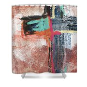 Expressionist Cross 5- Art By Linda Woods Shower Curtain