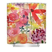 Expressionist Fall Garden- Art By Linda Woods Shower Curtain