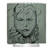 Expressionless Shower Curtain
