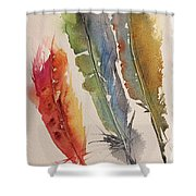 Feather Expressions Shower Curtain