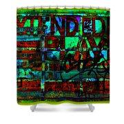 Extended Play Graffiti Radio/tonyadamo Shower Curtain