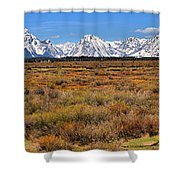 Extended Willow Flats Panorama Shower Curtain