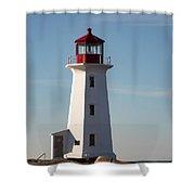 Exterior Of Peggys Cove Lighthouse, Nova Scotia, Canada Shower Curtain