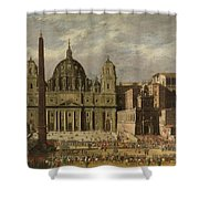 Exterior Of Saint Peter S, Rome Shower Curtain
