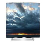 Extinguished Sun Shower Curtain