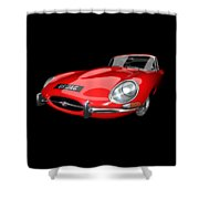 Extreme E Red Shower Curtain